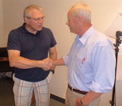 Walt Havenstein, candidate for NH Governor pays Keene Systems a visit.