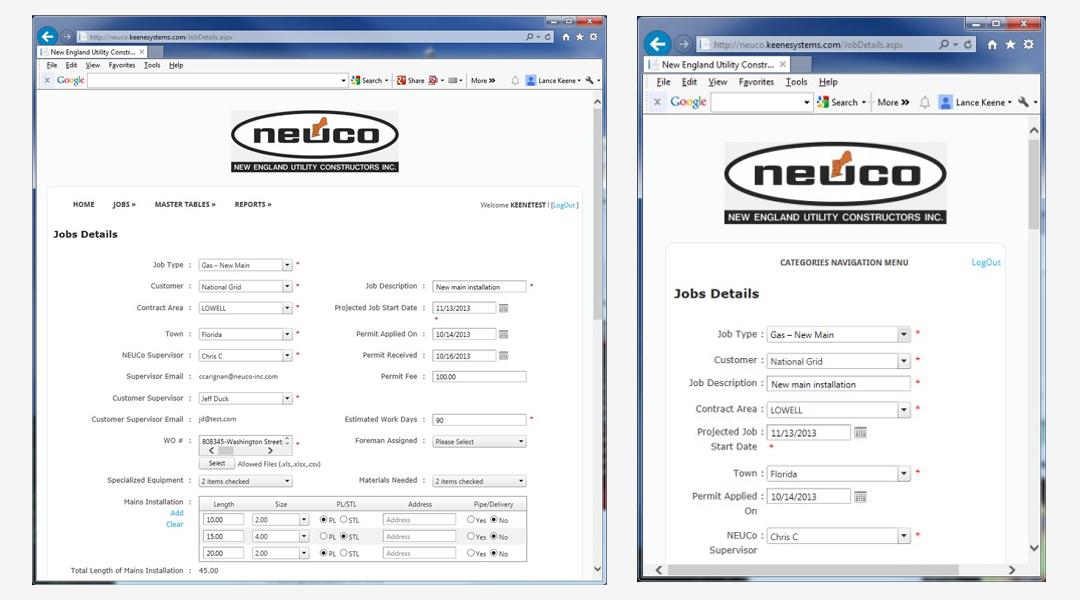 Neuco Web page